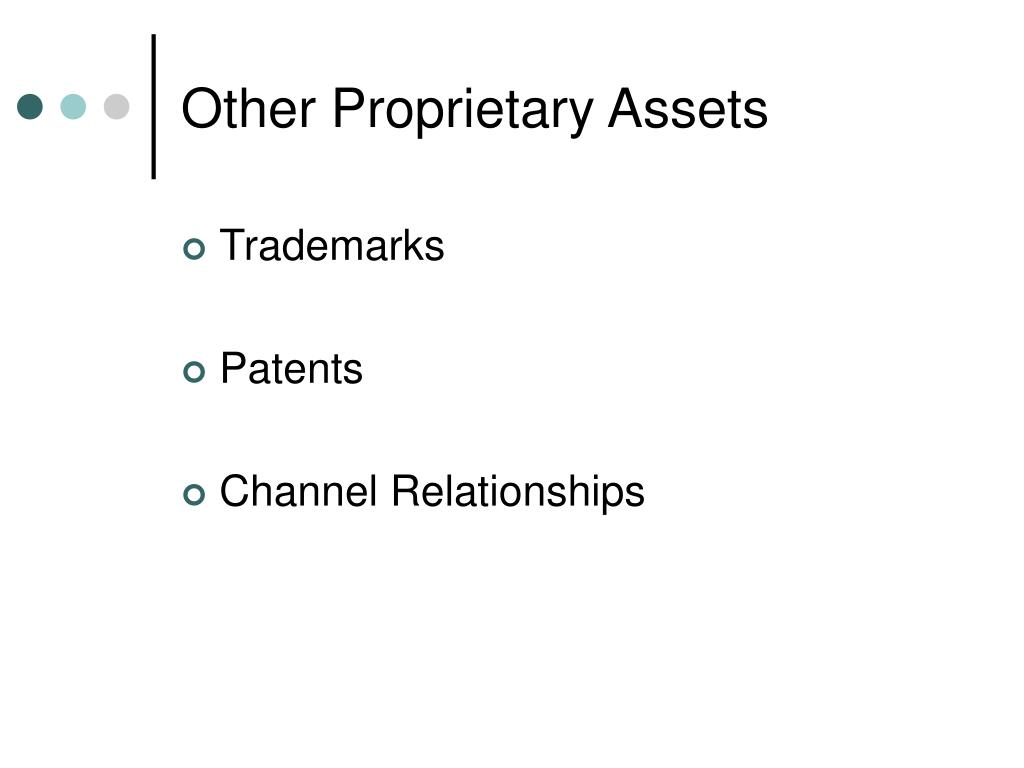 Other Proprietary Assets