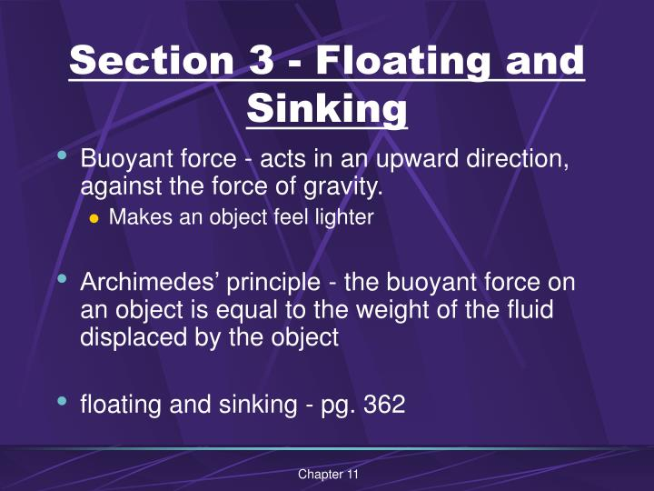 Section 3 - Floating and Sinking