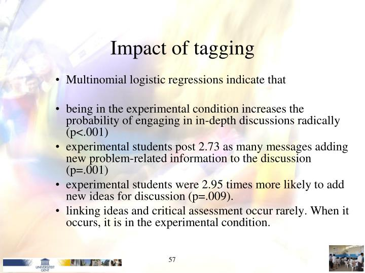 Impact of tagging