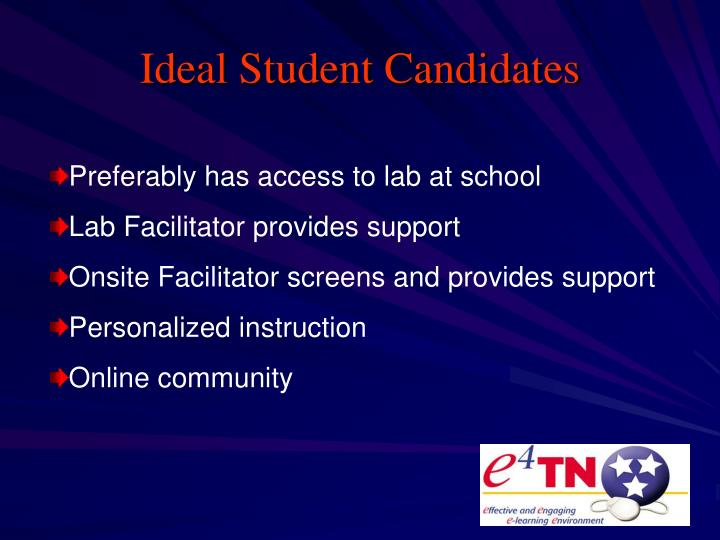Ideal Student Candidates