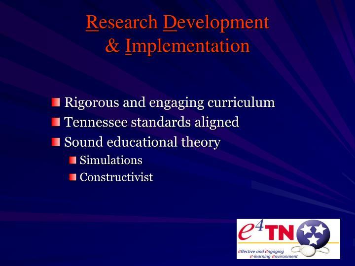 Rigorous and engaging curriculum