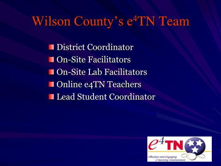 Wilson County's e