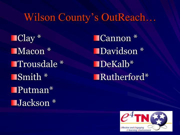 Wilson County's