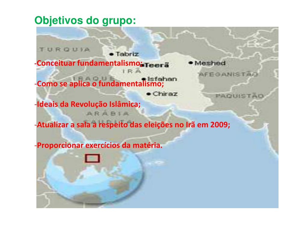 Objetivos do grupo: