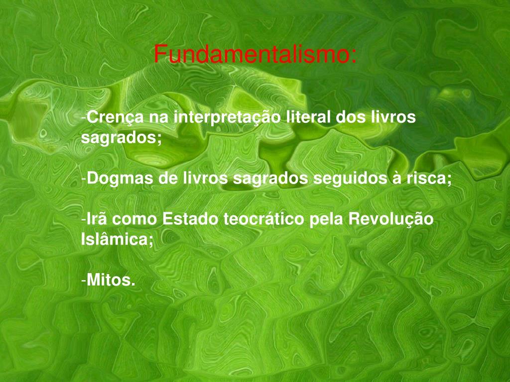 Fundamentalismo: