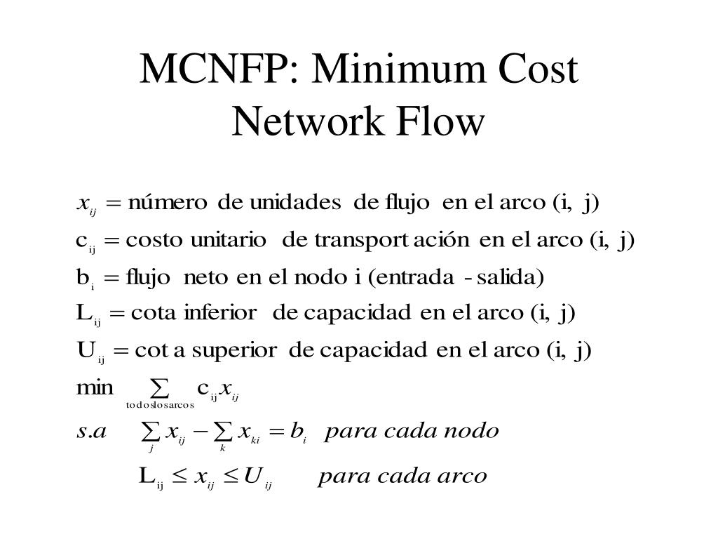 MCNFP: Minimum Cost Network Flow