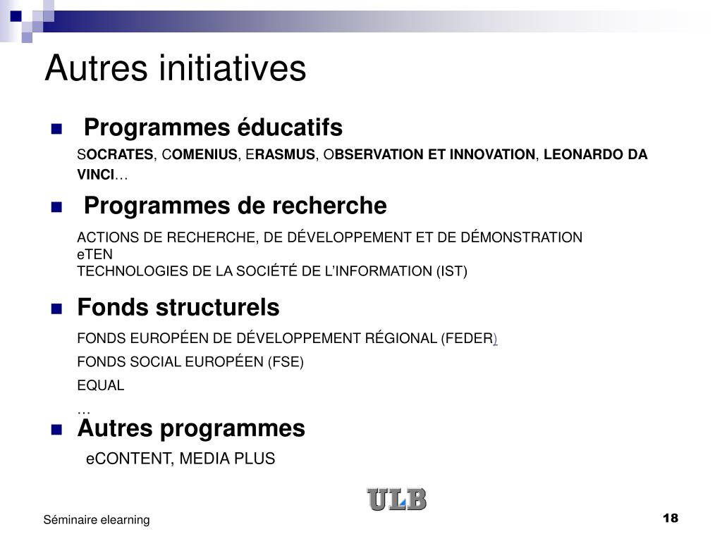 Autres initiatives