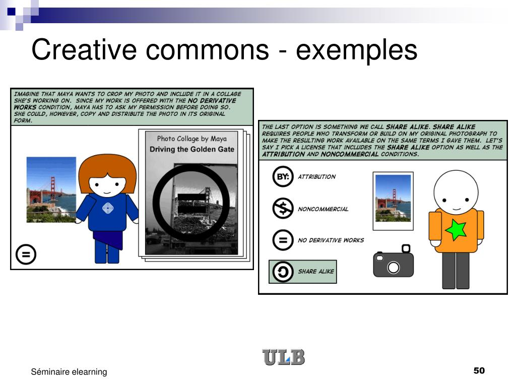 Creative commons - exemples