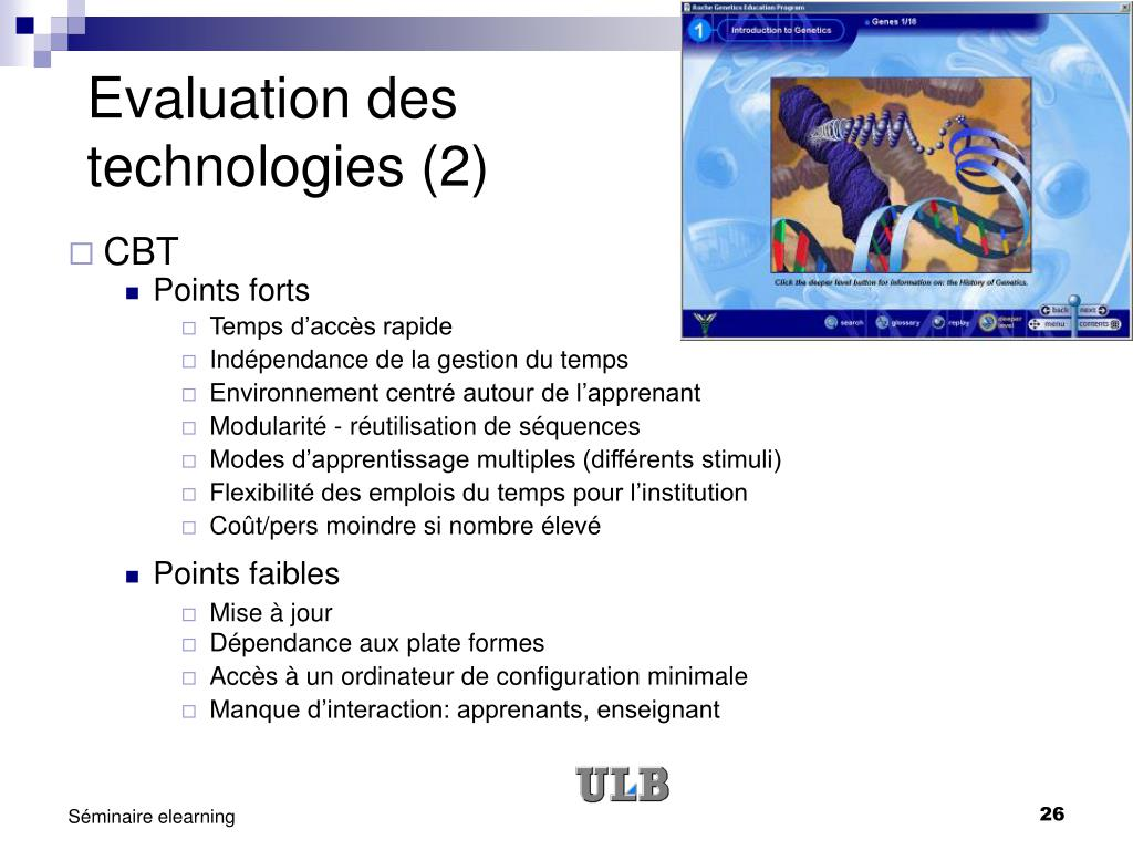 Evaluation des