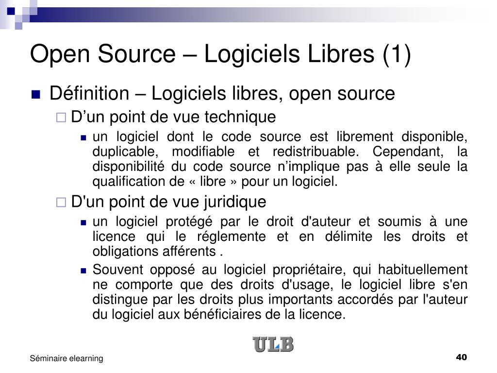 Open Source – Logiciels Libres (1)