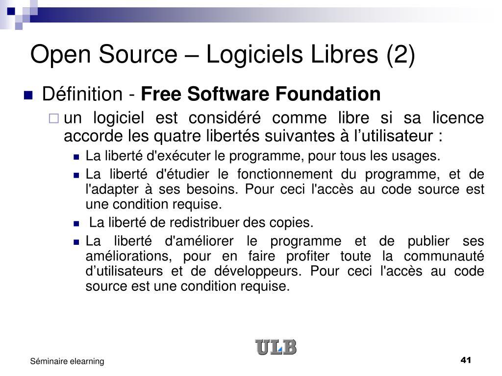 Open Source – Logiciels Libres (2)