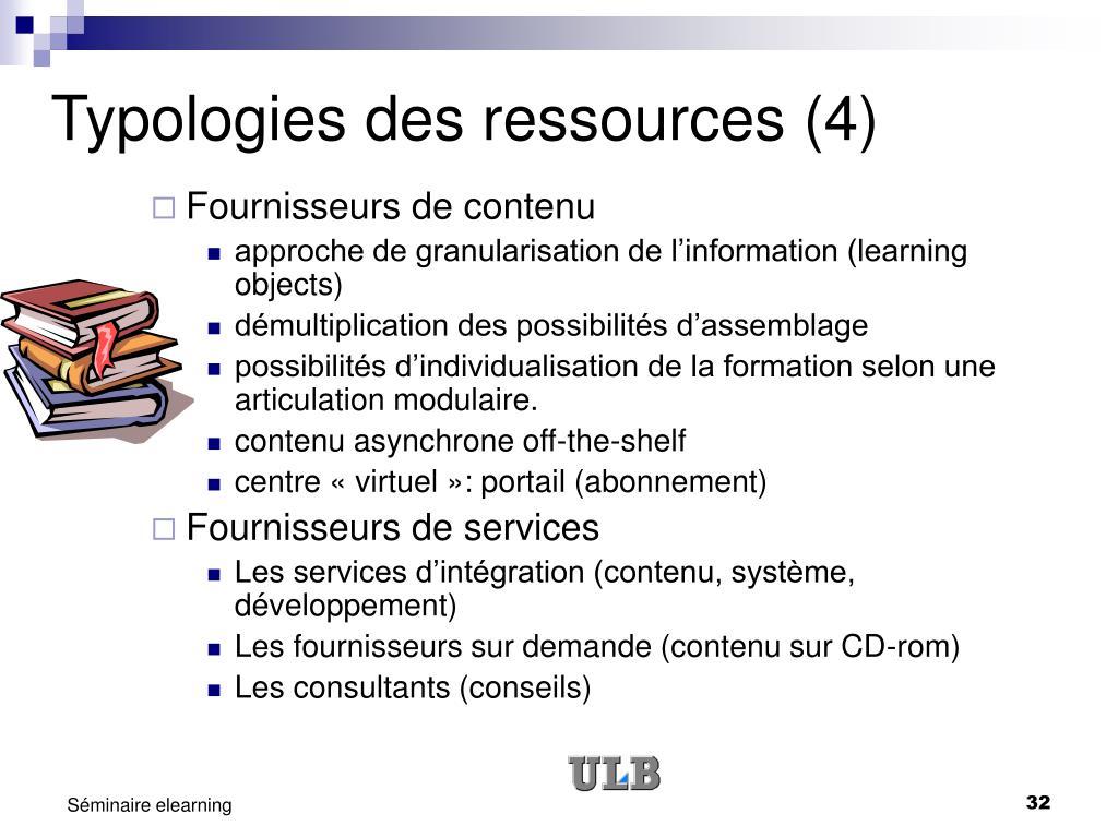 Typologies des ressources (4)