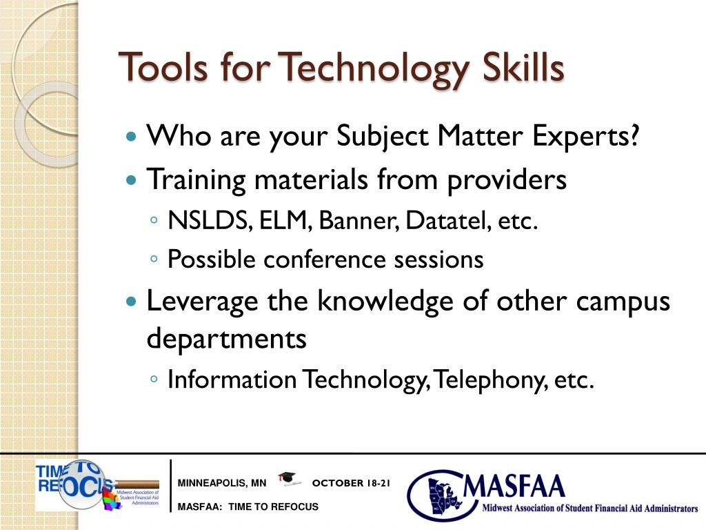 Tools for Technology Skills