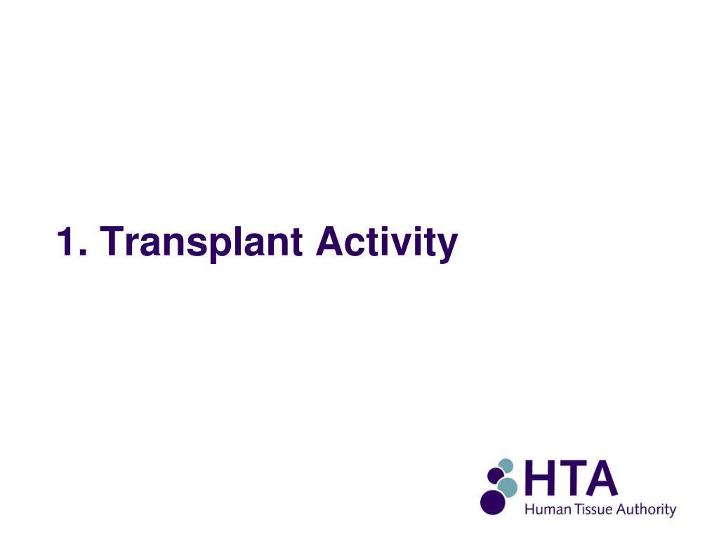 1. Transplant Activity
