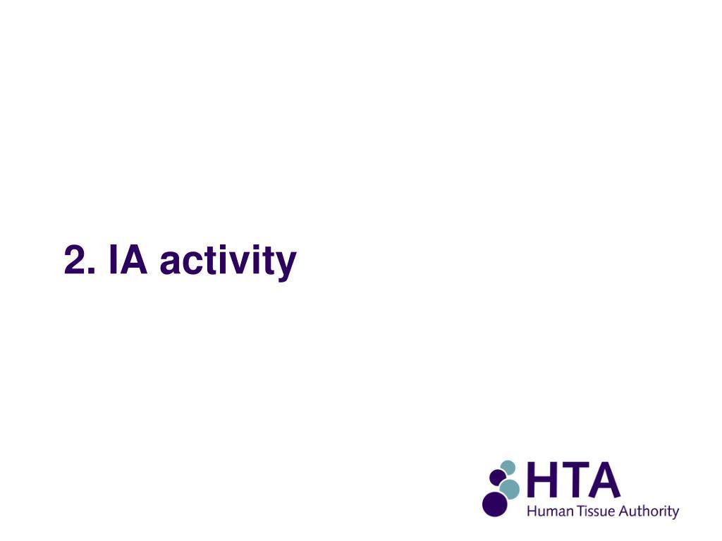 2. IA activity
