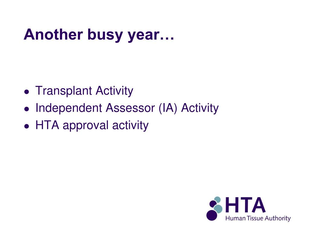 Another busy year…