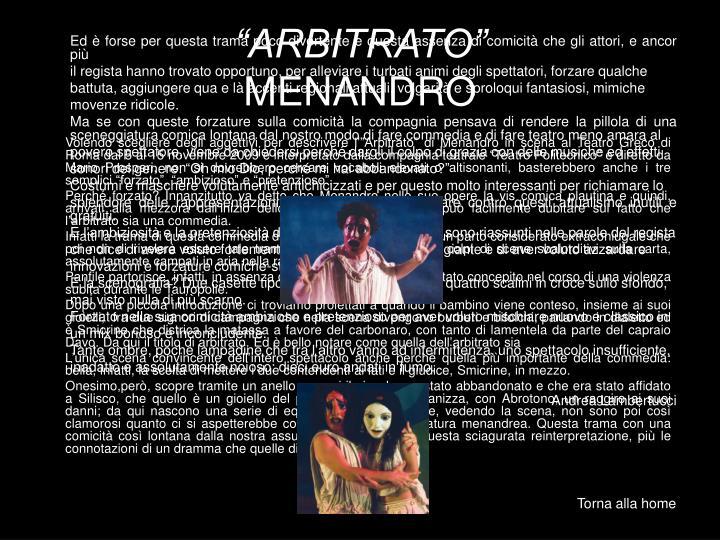 """""""ARBITRATO"""""""