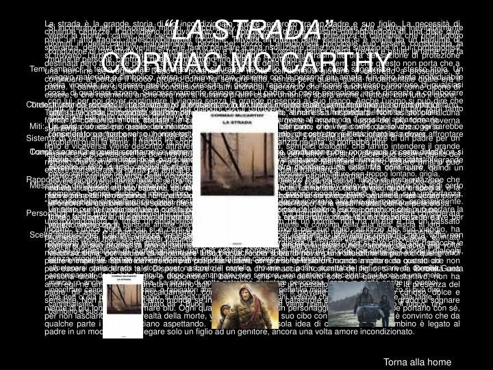 """""""LA STRADA"""""""
