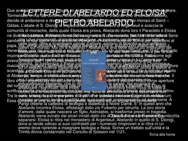 """""""LETTERE DI ABELARDO ED ELOISA"""""""