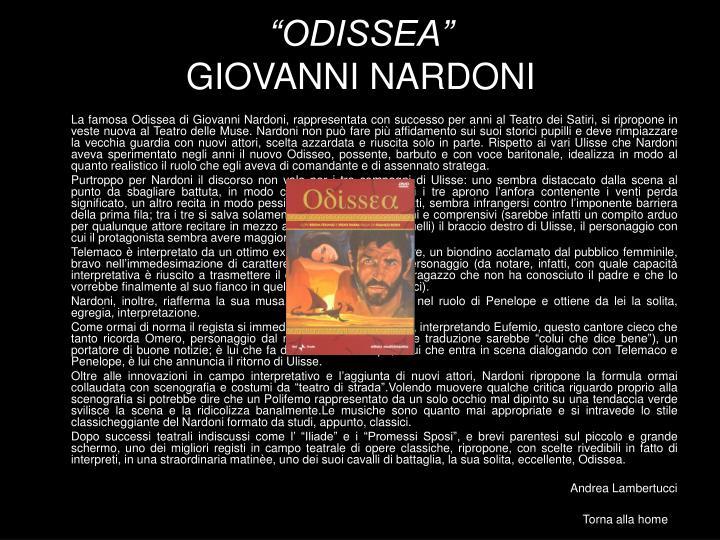 """ODISSEA"""
