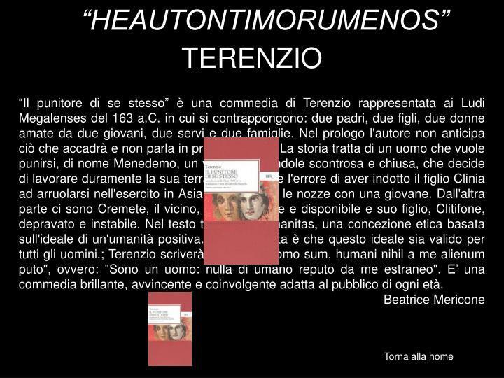"""""""HEAUTONTIMORUMENOS"""""""