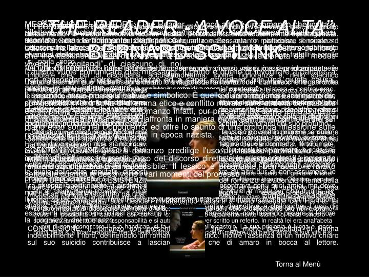"""THE READER - A VOCE ALTA"""
