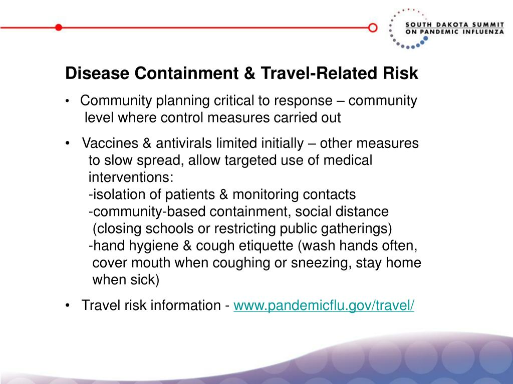 Disease Containment & Travel-Related Risk