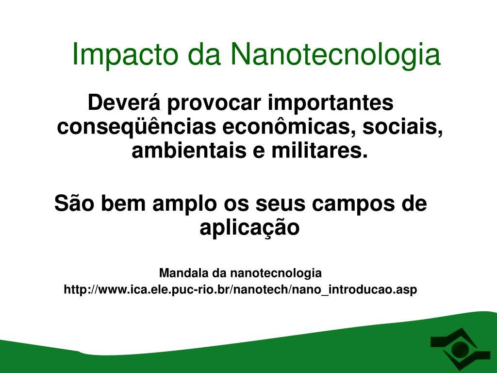 Impacto da Nanotecnologia