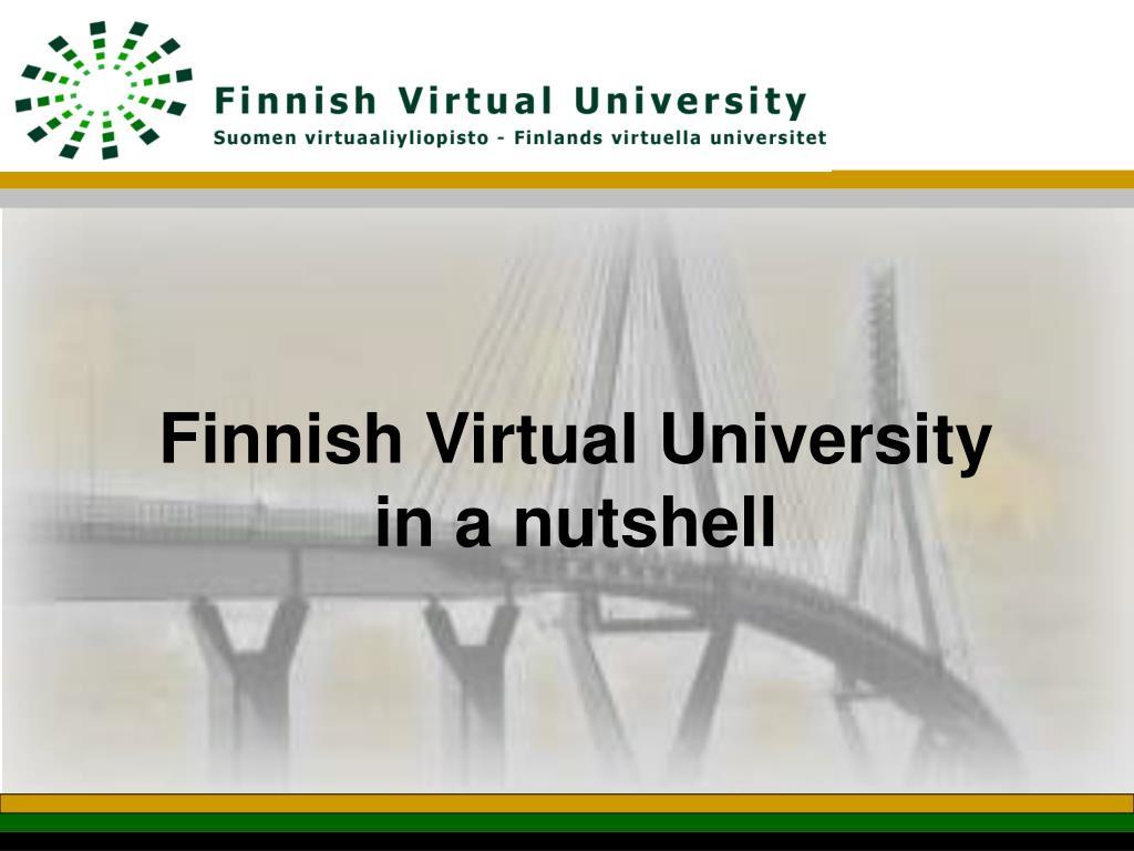 Finnish Virtual University in a nutshell