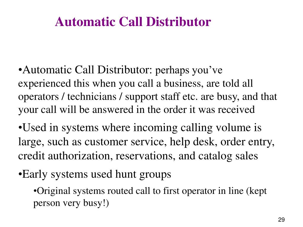 Automatic Call Distributor