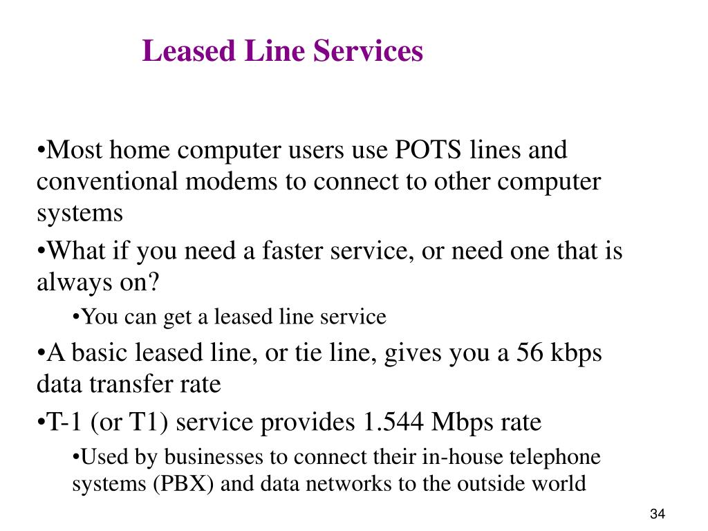 Leased Line Services