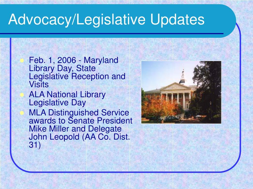 Advocacy/Legislative Updates