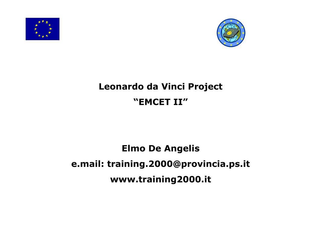 Leonardo da Vinci Project
