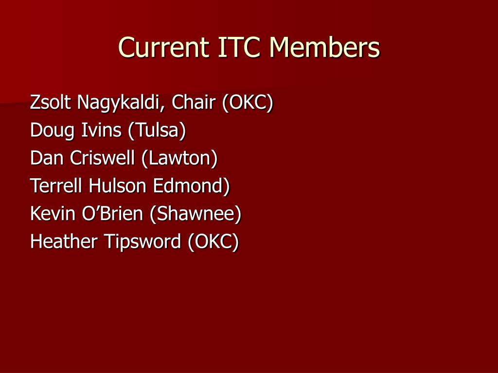 Current ITC Members