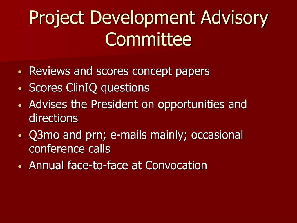 Project Development Advisory Committee