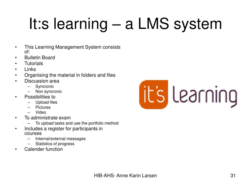 It:s learning – a LMS system
