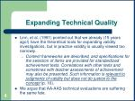 expanding technical quality