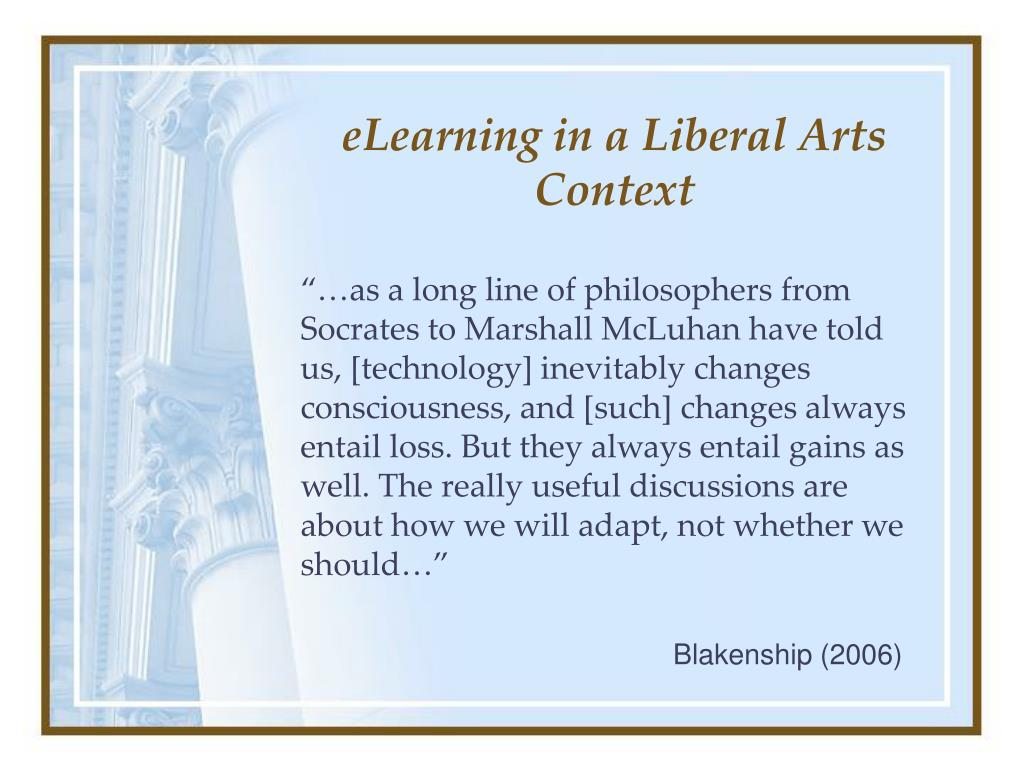 eLearning in a Liberal Arts Context
