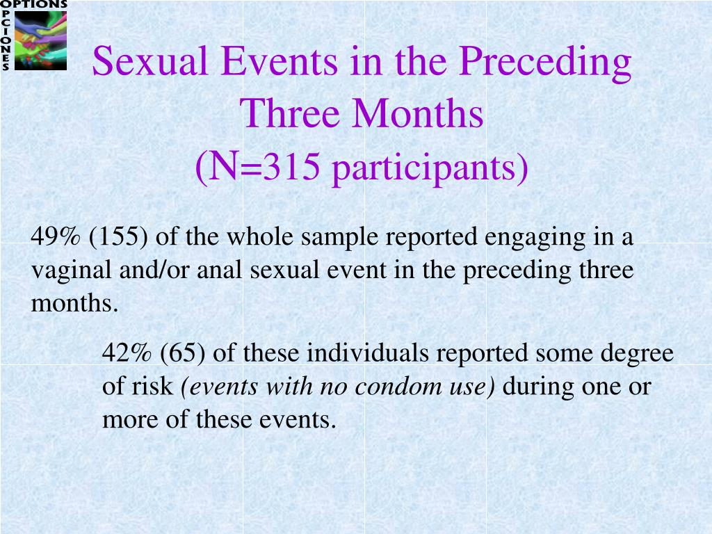 Sexual Events in the Preceding Three Months