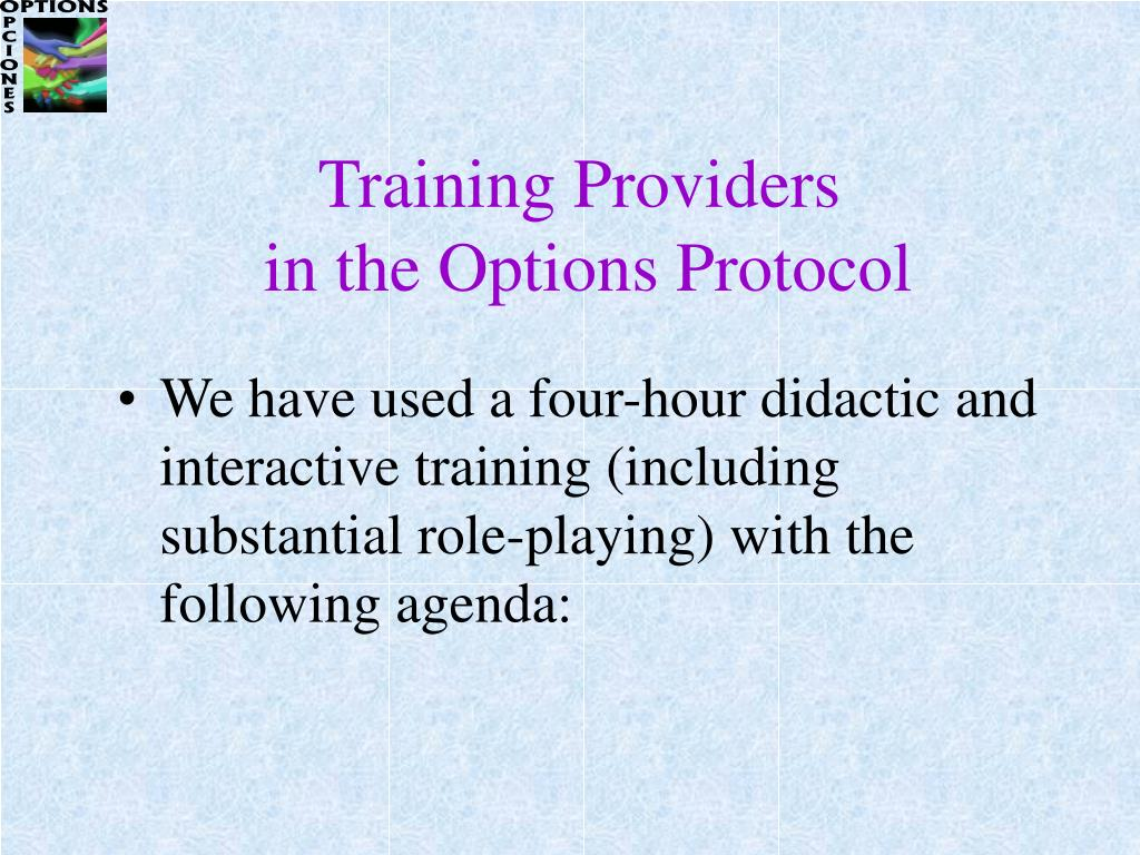 Training Providers