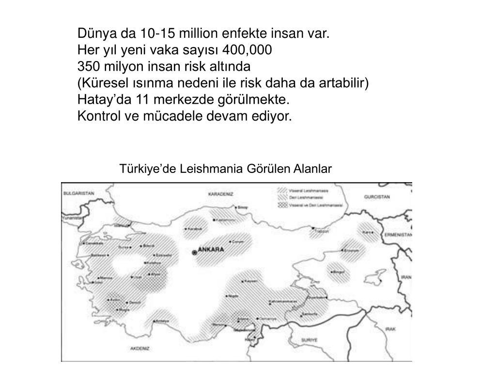Dünya da 10-15 million enfekte insan var.