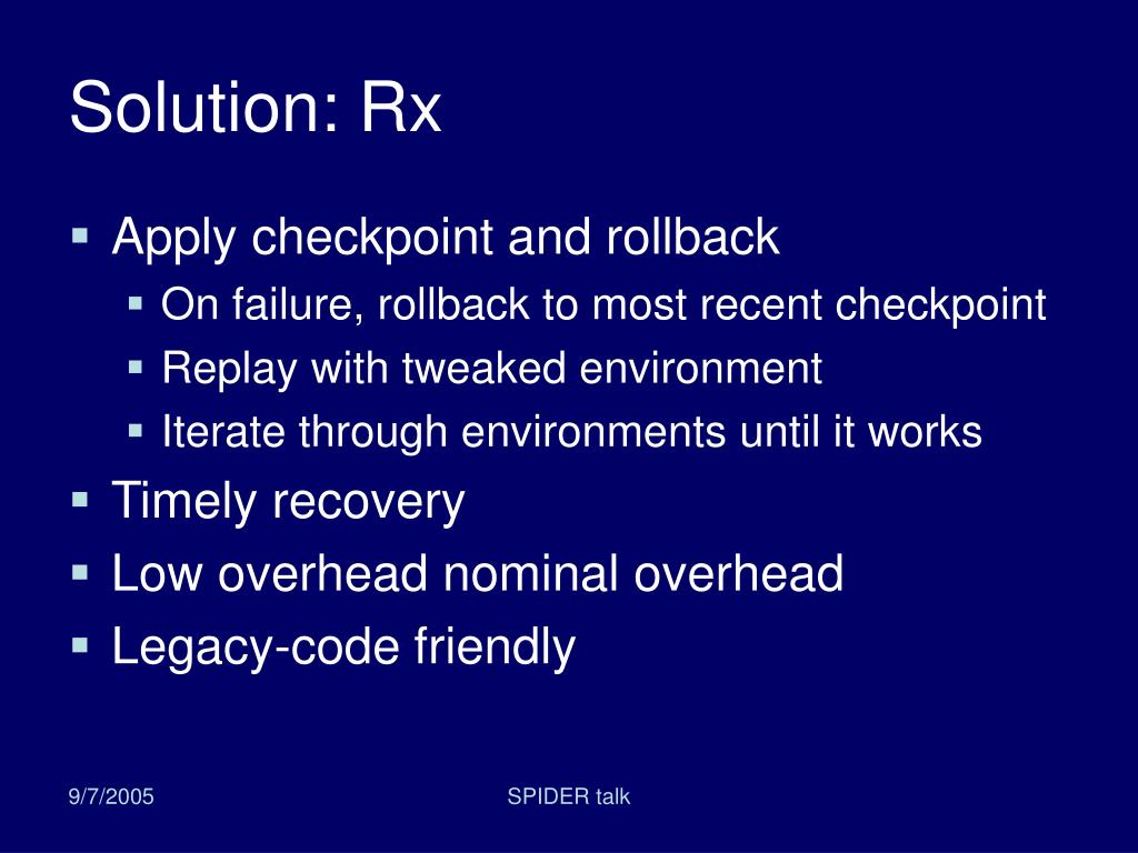 Solution: Rx