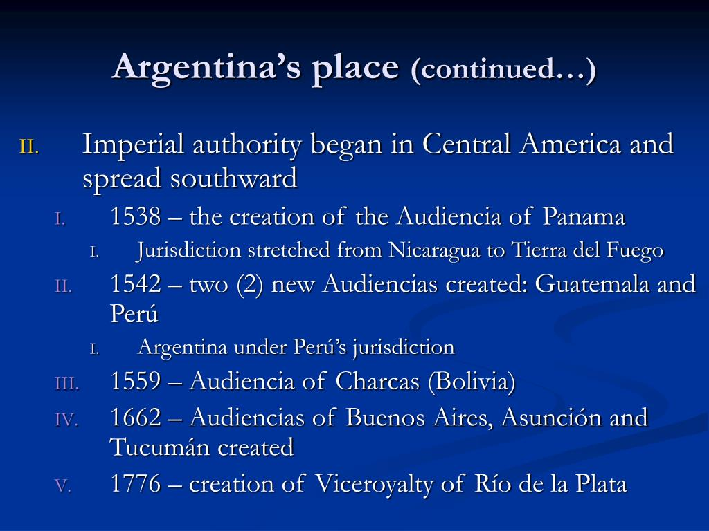 Argentina's place