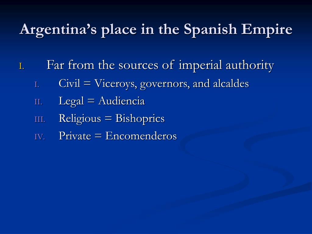 Argentina's place in the Spanish Empire