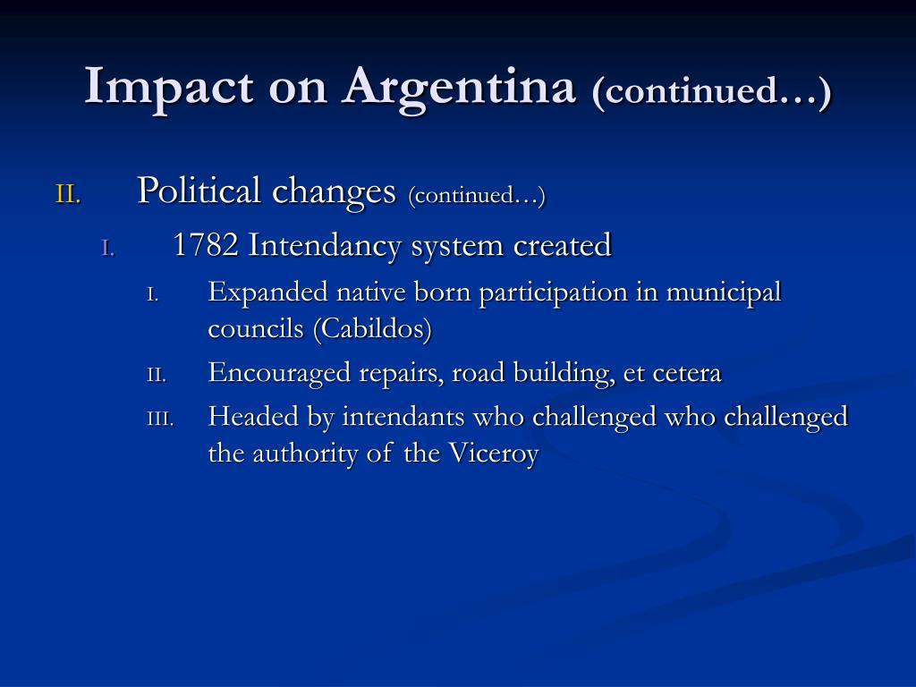 Impact on Argentina