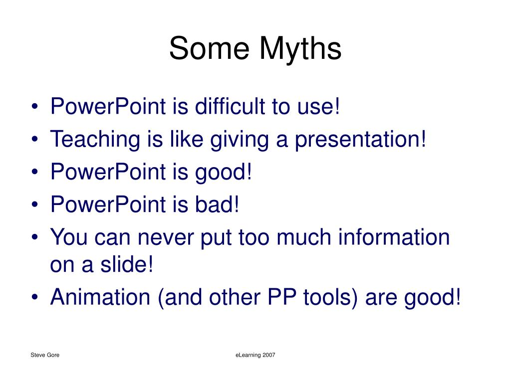 Some Myths