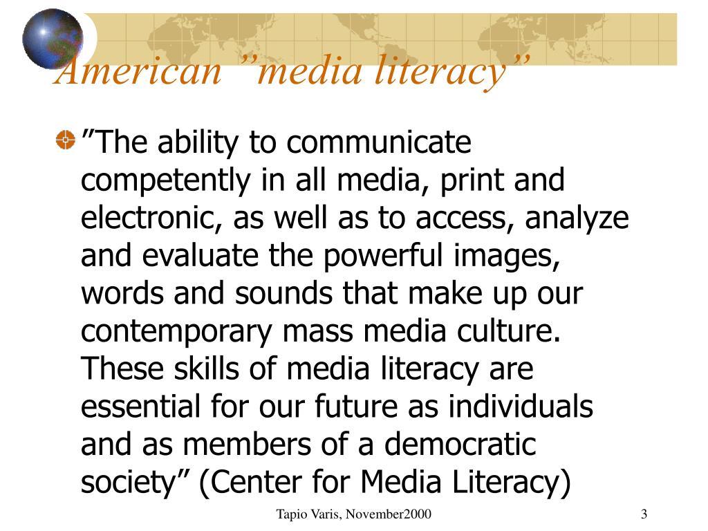 "American ""media literacy"""