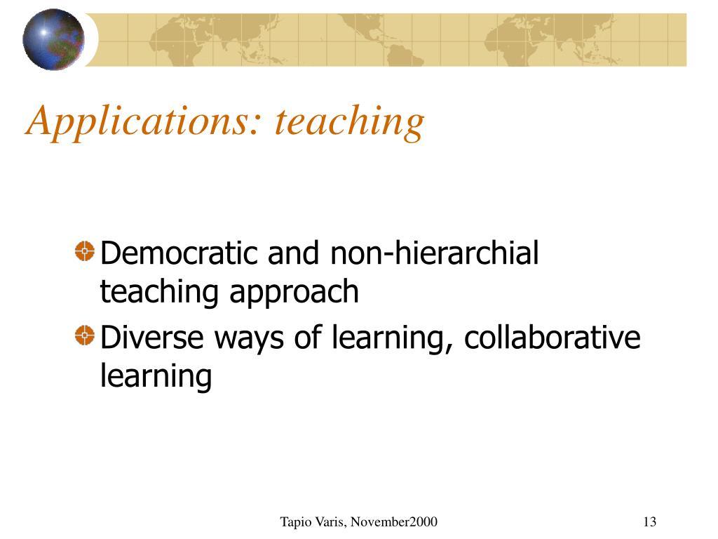 Applications: teaching
