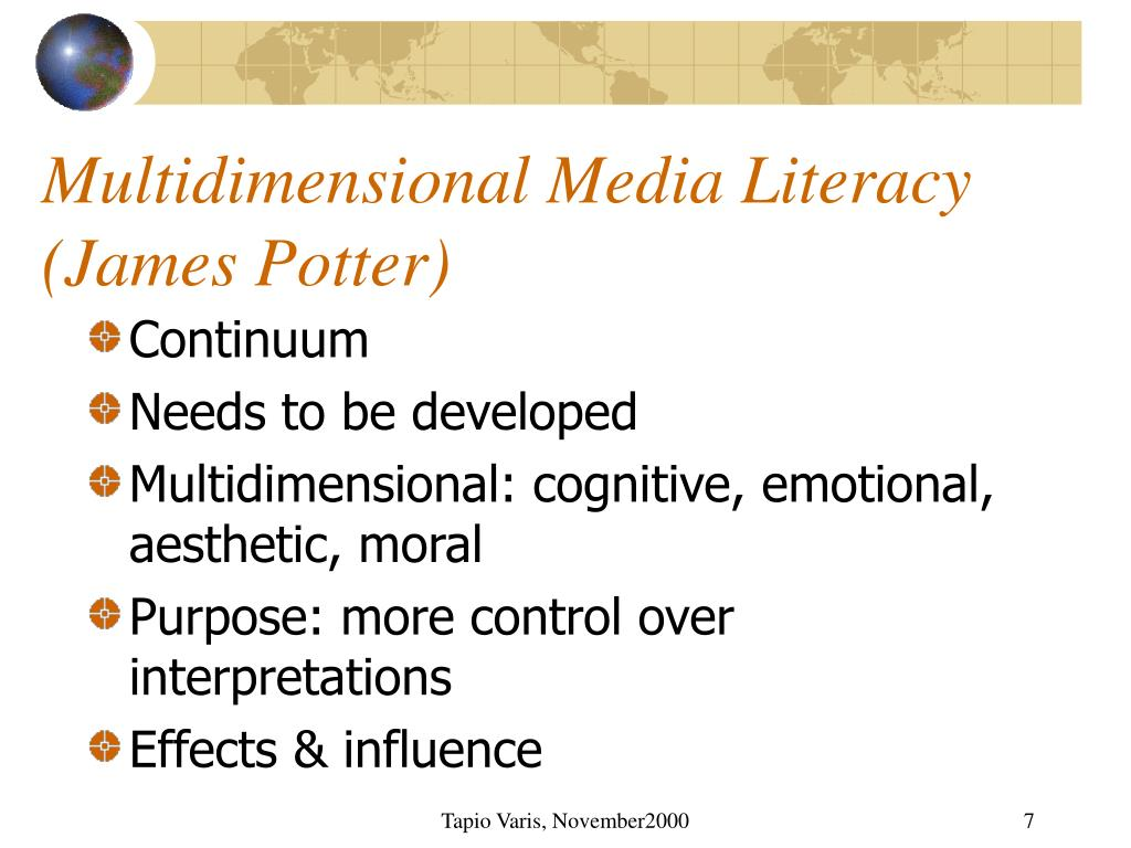 Multidimensional Media Literacy