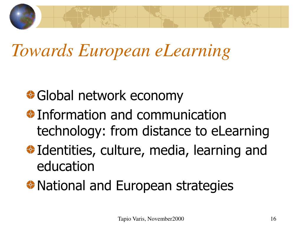 Towards European eLearning
